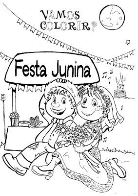 Festa Junina Saber E Colorir